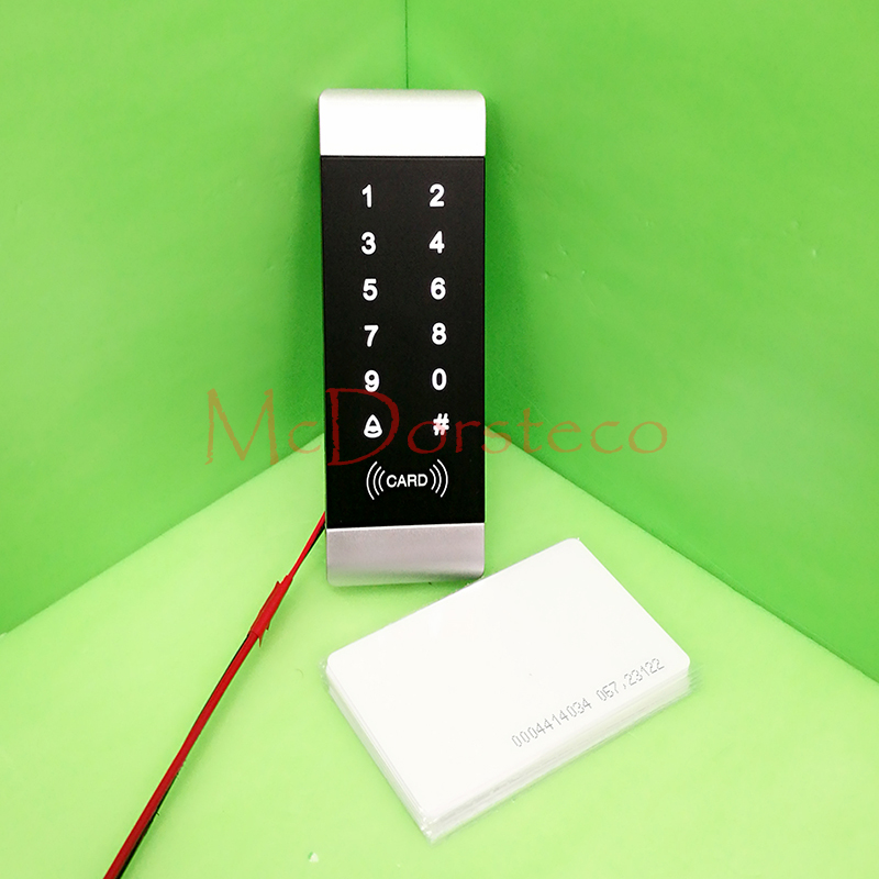 Rfid Lock System 125KHz Door RFID Card Password Access Controller with Touch Keypad Machine Controller+10 ID Card Wiegand In/out whole sale elegant mf1 card access control with touch screen keypad 3000pcs cards capacity wiegand in and out support