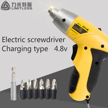 Limitless Ls-4801 4.8v Household Electric Screwdriver Set Rechargeable Screwdriver Wholesale Cordless sleeve Power Tools