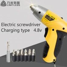 4.8โวลต์ไฟฟ้าในครัวเรือนชุดไขควงแบบชาร์จไขควงขายส่งไร้สายแขนเครื่องมือไฟฟ้า Limitless ls-4801