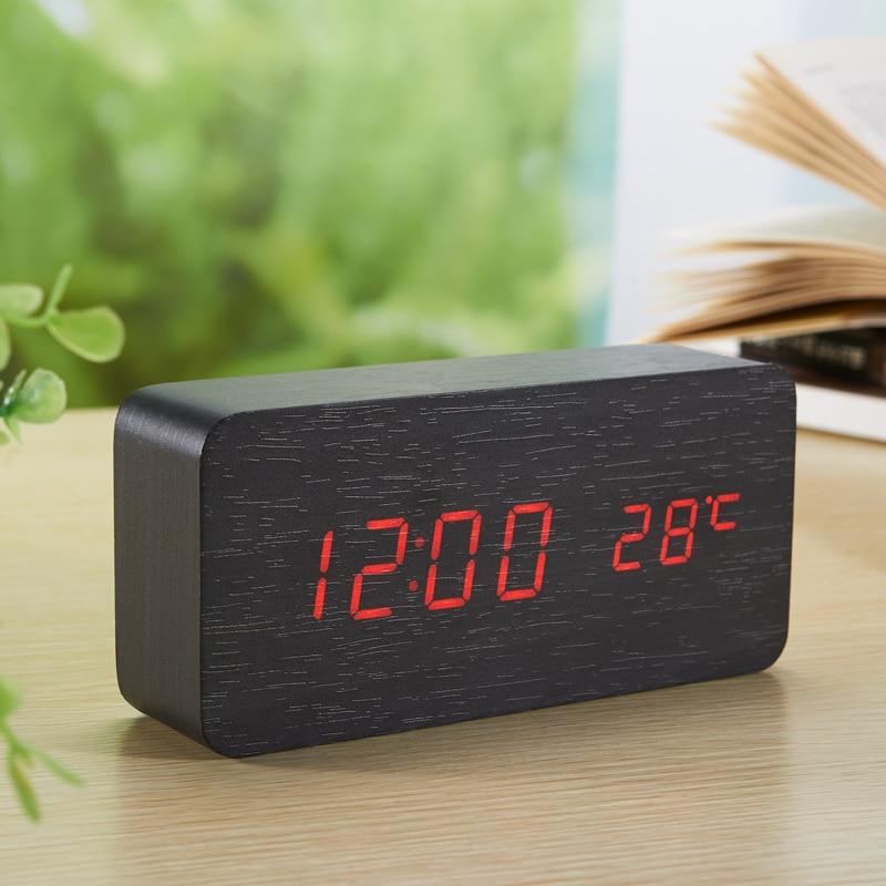 LED-Wecker aus Holzplatine + Temperaturthermometer Digitale - Wohnkultur - Foto 4