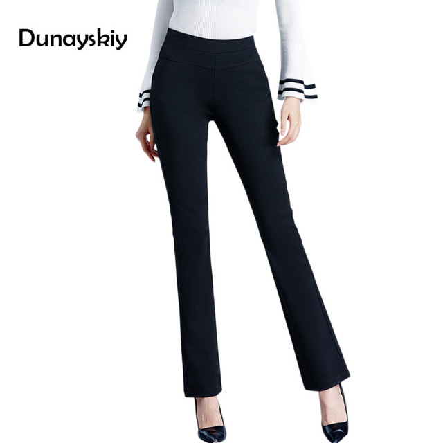 09d41855b64 Black Plus Size 7XL High waist pants for women office OL style work wear  skinny Cargo pants female wide leg trousers Dunayskiy