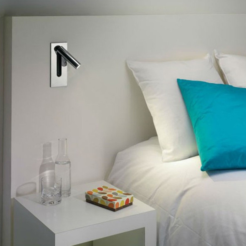 ZEROUNO Wall Sconce High Quality 2W 120lm LED Wall Lamp Bulb Cree Chip 220v Underlight Dock Switch Headboard Reading Book Lights