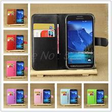 Couro capa para Samsumg Galaxy S5 atividade G870, caso carteira de luxo para Galaxy S5 atividade G870 com suporte de cartão suporte Flip casos saco do telefone móvel para G870