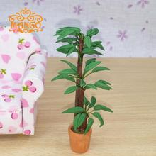 1/12 кукольный миниатюрные горшечные цезальпиния дерево завод вт / пот бесплатная доставка