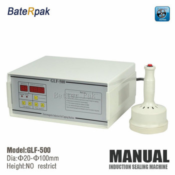 GLF-500 aluminum foil sealing machine,electromagnetic induction machine,BateRpak Continuous Induction Sealer 110V/220V