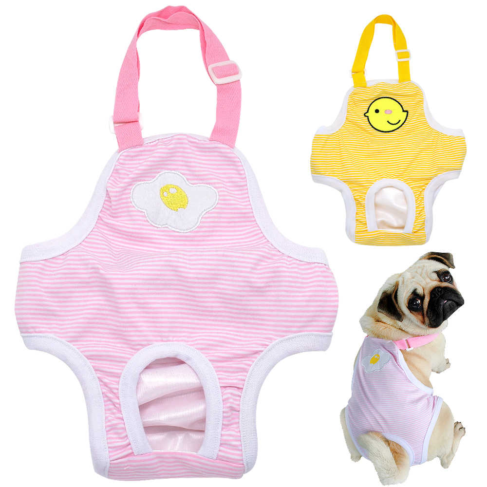 Striped Female Dog Pant Diaper Cute Pet Dogs Shorts Girl Dogs Physiological Pants Washable Panties for Small Medium Dogs