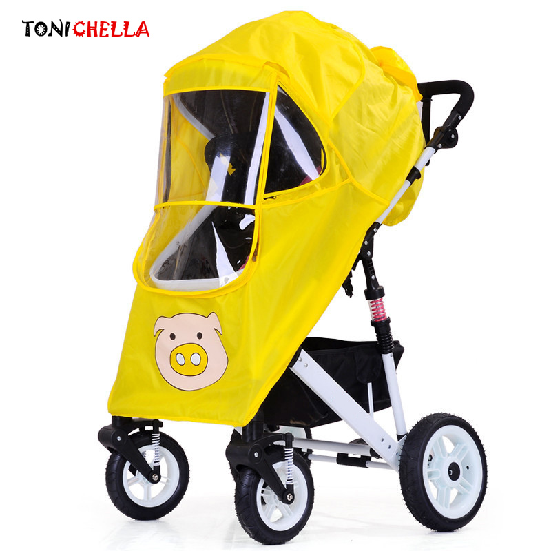 Baby Stroller Accessories Waterproof Rain Cover Universal Infants Pushchairs Carriage Wind Dust Shield Necessary Tools BB3037 universal baby stroller rain cover baby carriage pushchairs waterproof rain cover stroller accessories wind shield canopies