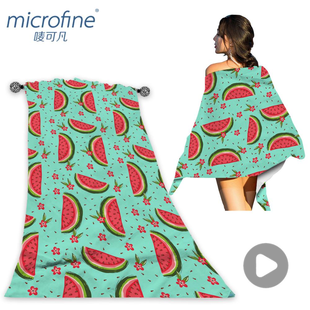 Microfine Watermelon Beach Towel Microfiber Pool Swimming Towels Adults Cute Yoga Mat Laege Baby Poncho Blanket Summer 2018
