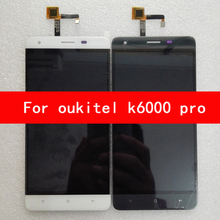 100% Original For Oukitel K6000 Pro LCD  Display Touch Screen Digitizer Replacement Ffree Shipping