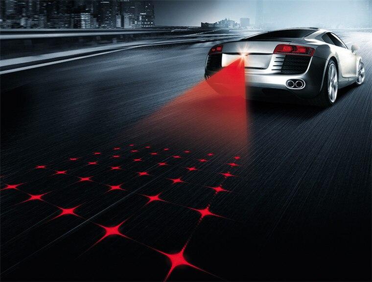 Anti-Fog Luz Laser Carro Anti-colisão de Radiação da Luz de Advertência Do Carro do laser Laser de DIODO EMISSOR de Luz de Nevoeiro carro Novo Carros de estilo poderoso