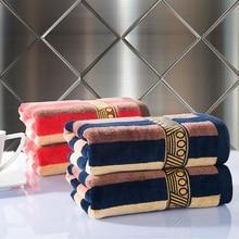 Streifen handtuch 2 teile/los 100% baumwolle weichen blauen bad toalla 34*76 cm erwachsene kinder playa serviette de plage heimtextilien