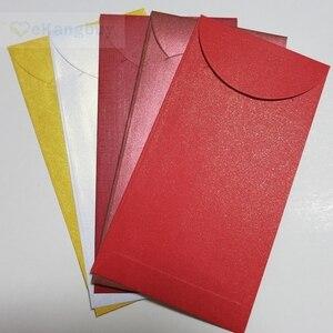 """Image 1 - 50pcs 172x90mm(3.7 """"x 3.5"""") 셀프 인감 빨간색 봉투 반짝이 선물 봉투"""