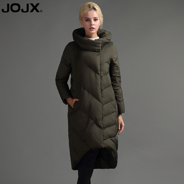 ebb9ff5f2 US $57.39 50% OFF|JOJX High Quality Fashion Loose Asymmetric 2017 Winter  Jacket Women Long Down Jacket Coat Warm Parka Outwear Brand Clothing-in ...