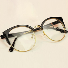 JIE.B 2017 New Fashion Women Glasses Cat Eye Frames Myopia For Men Vintage Women's Big Glasses Oculos Gafas