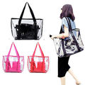 Fashion Ladies Women Summer Jelly Candy Clear Transparent Handbag Tote Shoulder Beach Bags