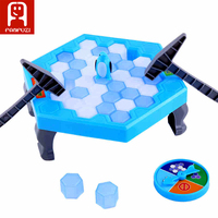 Balance Ice Cubes Family Fun Game Penguin Ice Breaking Puzzle Knock Ice Block Wall Toy Desktop