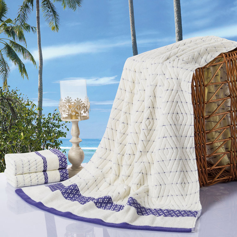 2016 outlet dobby egytian cotton towel set 1 bath towel 2 hand towel 3pcs kit/bue/green/camel checks for home/hotel/hospital use