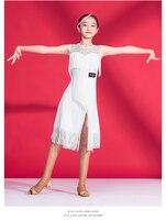 Children Latin Dance Professional Black Leotard Dance Clothing Dress