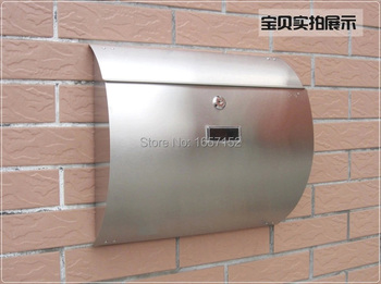 Stainless steel arc cottage mail box rain-proof rust-proof mailbox Wall Mount Metal Post Letters Box Thickening letter box