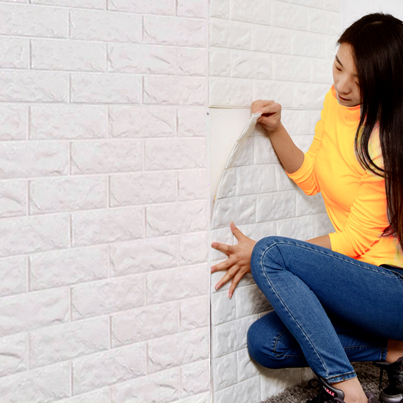 DIY Self Adhesive 3D Wall Stickers Bedroom Decor Foam Brick home Decor Wallpaper Kids Safty Wall Decor Living Wall Sticker ...