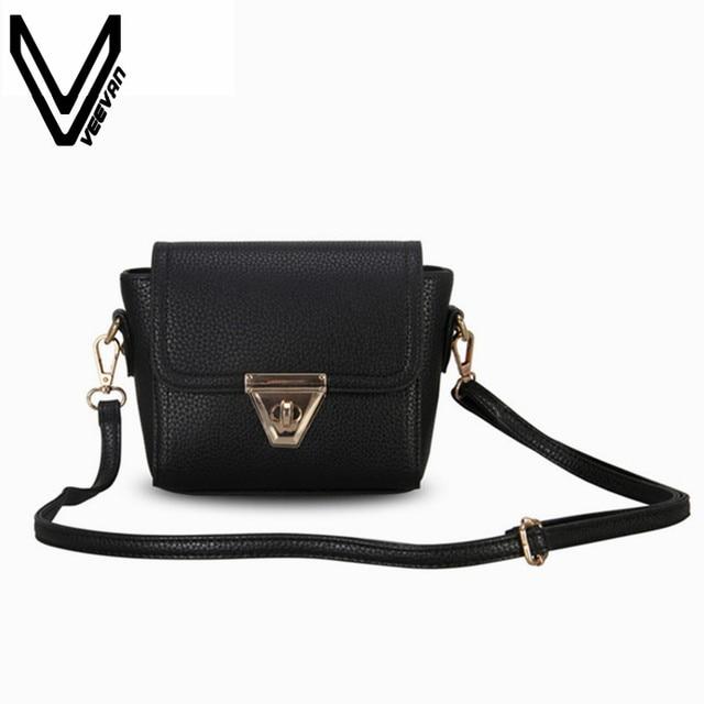 VEEVANV New Designer Women Messenger Bag Female Leather Shoulder Bags Girls  Crossbody Bag Ladies Handbag Small Clutch Purse Mini 31d95d4b57967