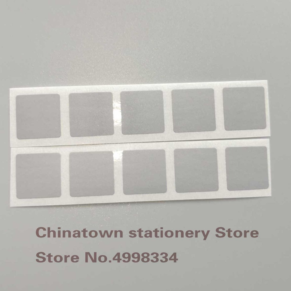 100pcs 15x15mm  GRAY Adhesive SCRATCH OFF Stickers DIY Manual Label Tape Hand Made Scratched Stripe Card Film