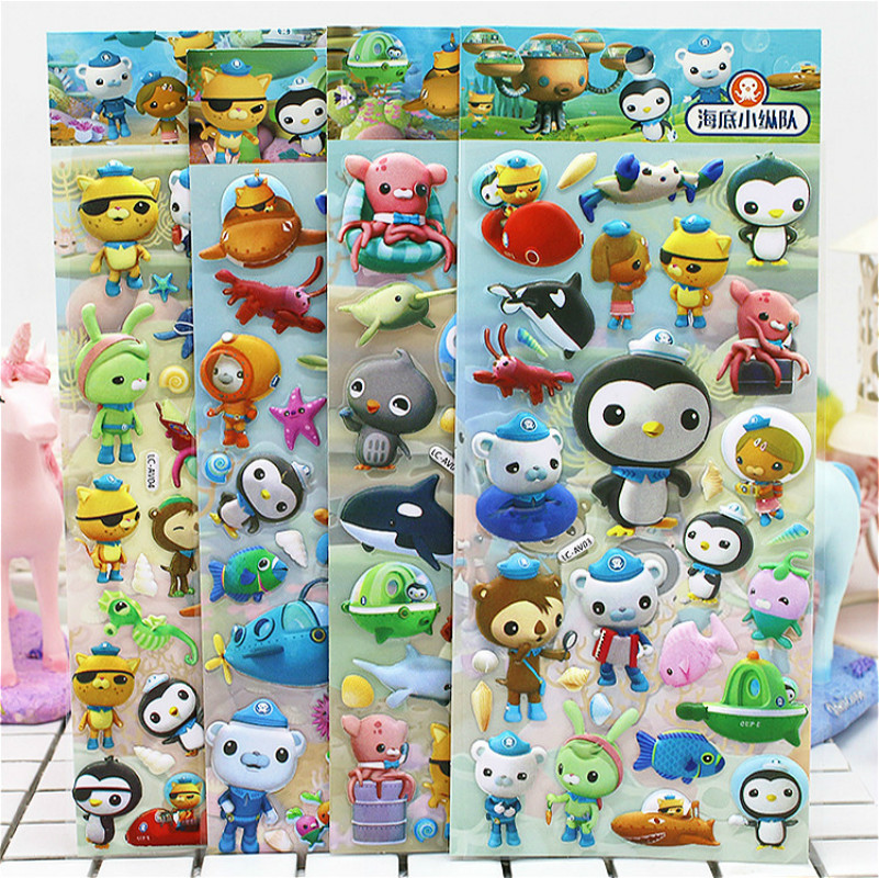 3D Puffy Bubble Stickers Cartoon Princess Cat Waterpoof DIY Baby Toys for Children Kids Boy Girl(China)