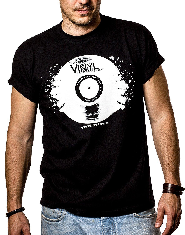 Music Dj T-Shirts for Men VINYL RECORD Black Size S-XXXL