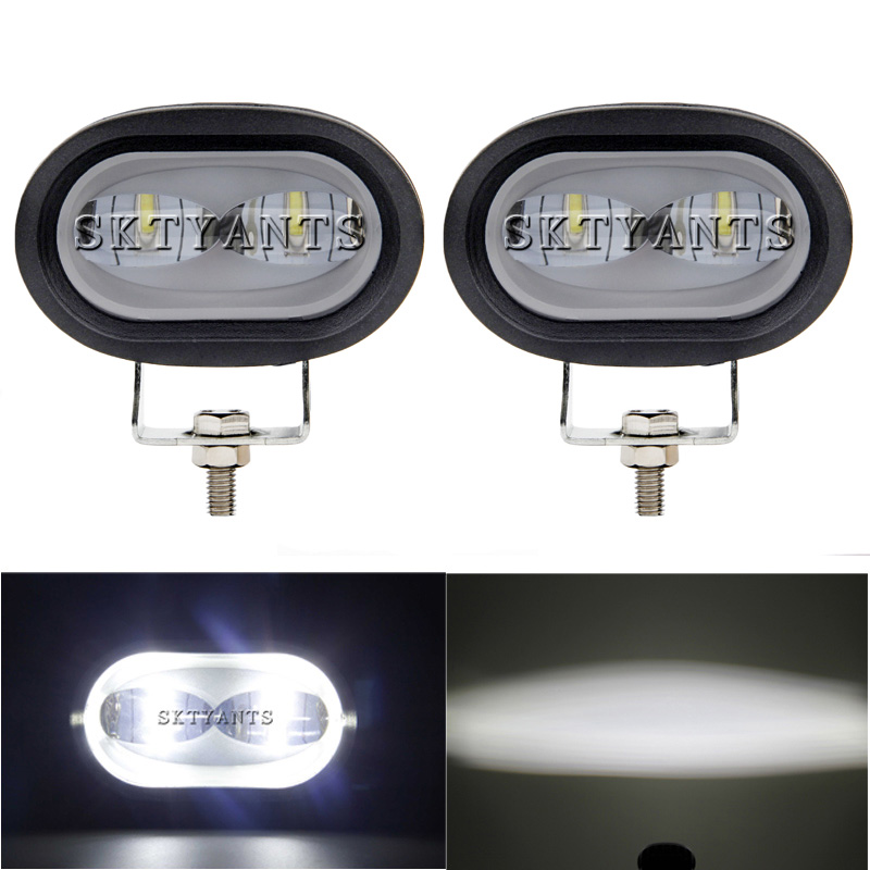 6D 20W LED Work Light spotlight White/Yellow Universal Motorcycle Off Road Auxiliary Spot Lamp Driving Fog Light for Car Truck