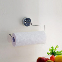 Stainless steel suction cup towel rack toilet paper holder roll hand super Suction Tissue