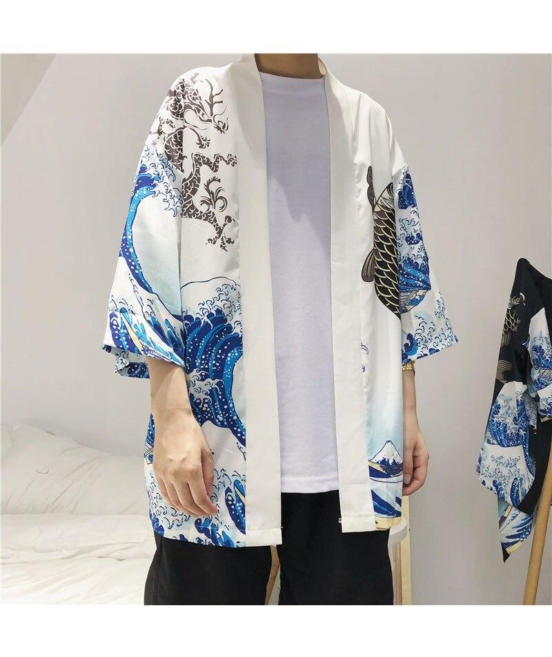 HTB141pYmljTBKNjSZFDq6zVgVXaU Zongke Japanese Kimono Cardigan Men Wave and Carp Print Long Kimono Cardigan Men Thin Mens Kimono Cardigan Jacket Coat 2018