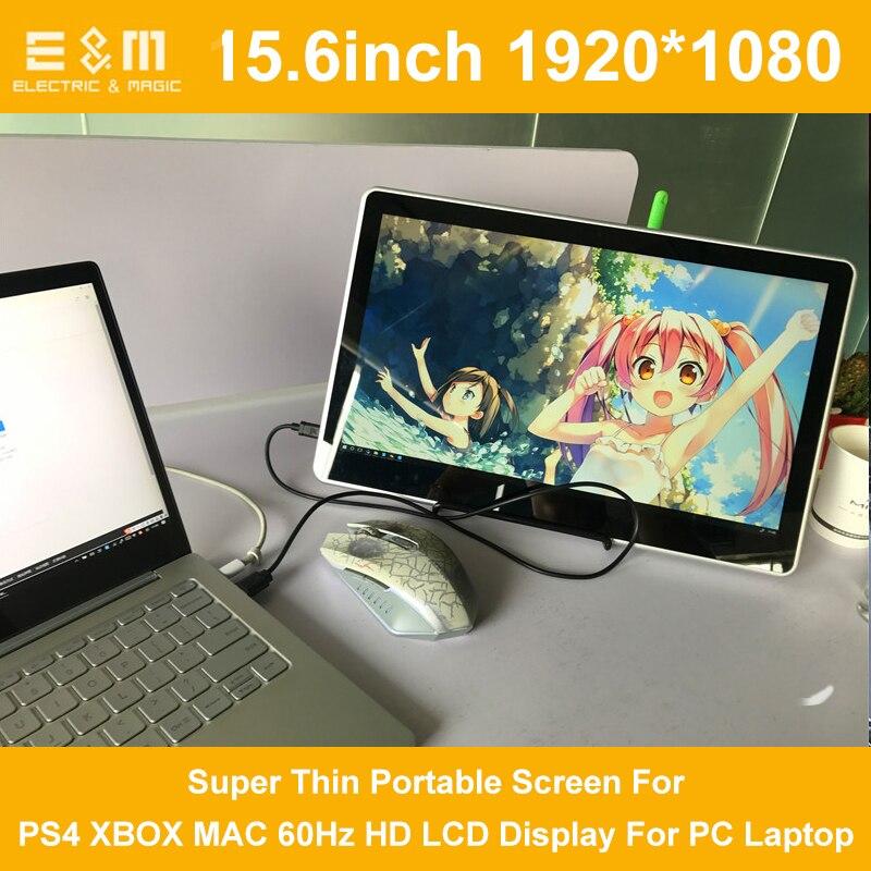 Modestil 15,6 Zoll 1920*1080 P Typ-c Usb Hdmi Super Dünne Tragbare Bildschirm Für Ps4 Xbox Mac 60 Hz Hd Lcd Display Für Pc Laptop