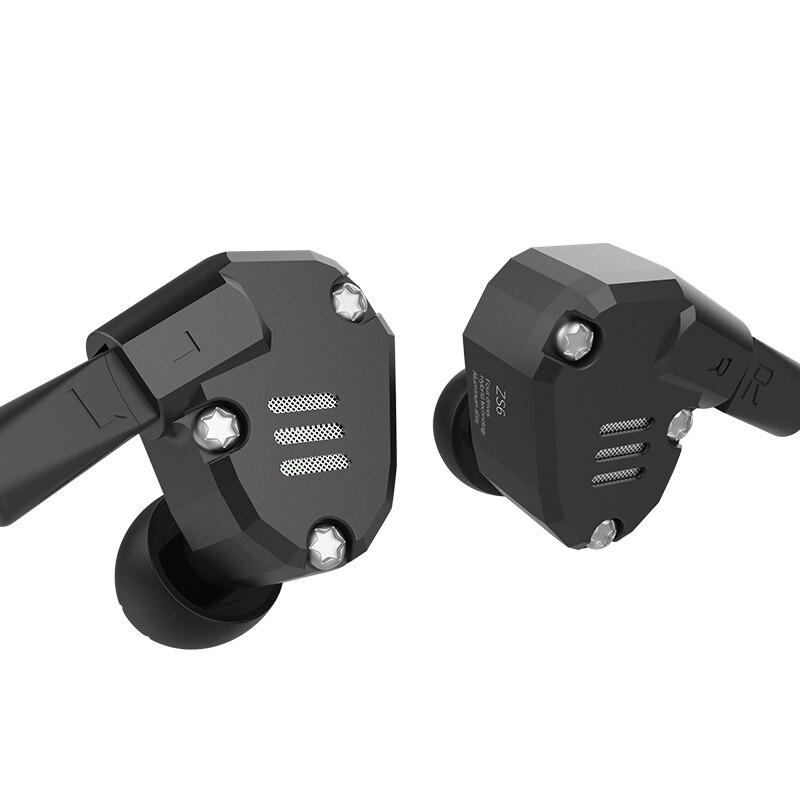 ZS6 Eight Driver Earphone Dynamic And Armature In Ear HIFI Stereo Sport Headset Detachable Bluetooth Upgrade Cable Original original joyroom e103 in ear earphone 3 5mm stereo headset dynamic headphone aerospace aluminum alloy earphone