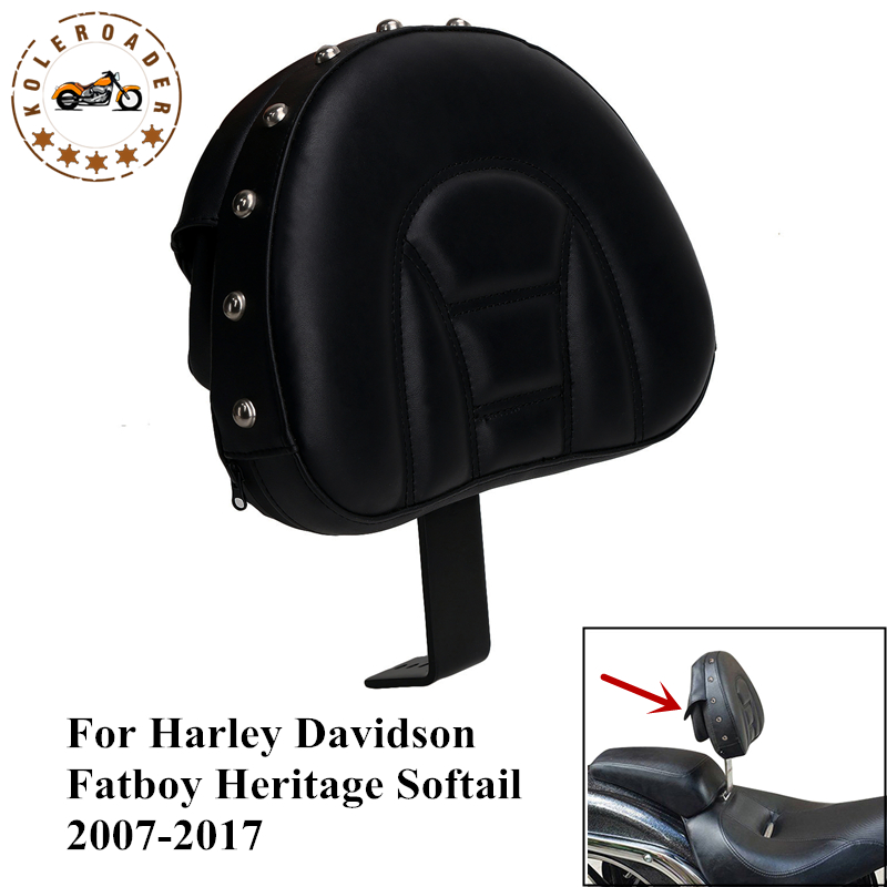 Motorcycle Seat Backrest for Harley Davidson Fatboy FLSTF Heritage Softail FLSTC Detachable Plug-in Adjustable Mount Kit #MBJ120 voltage regulator rectifier for harley davidson heritage softail deluxe classic custom fatboy flstf breakout
