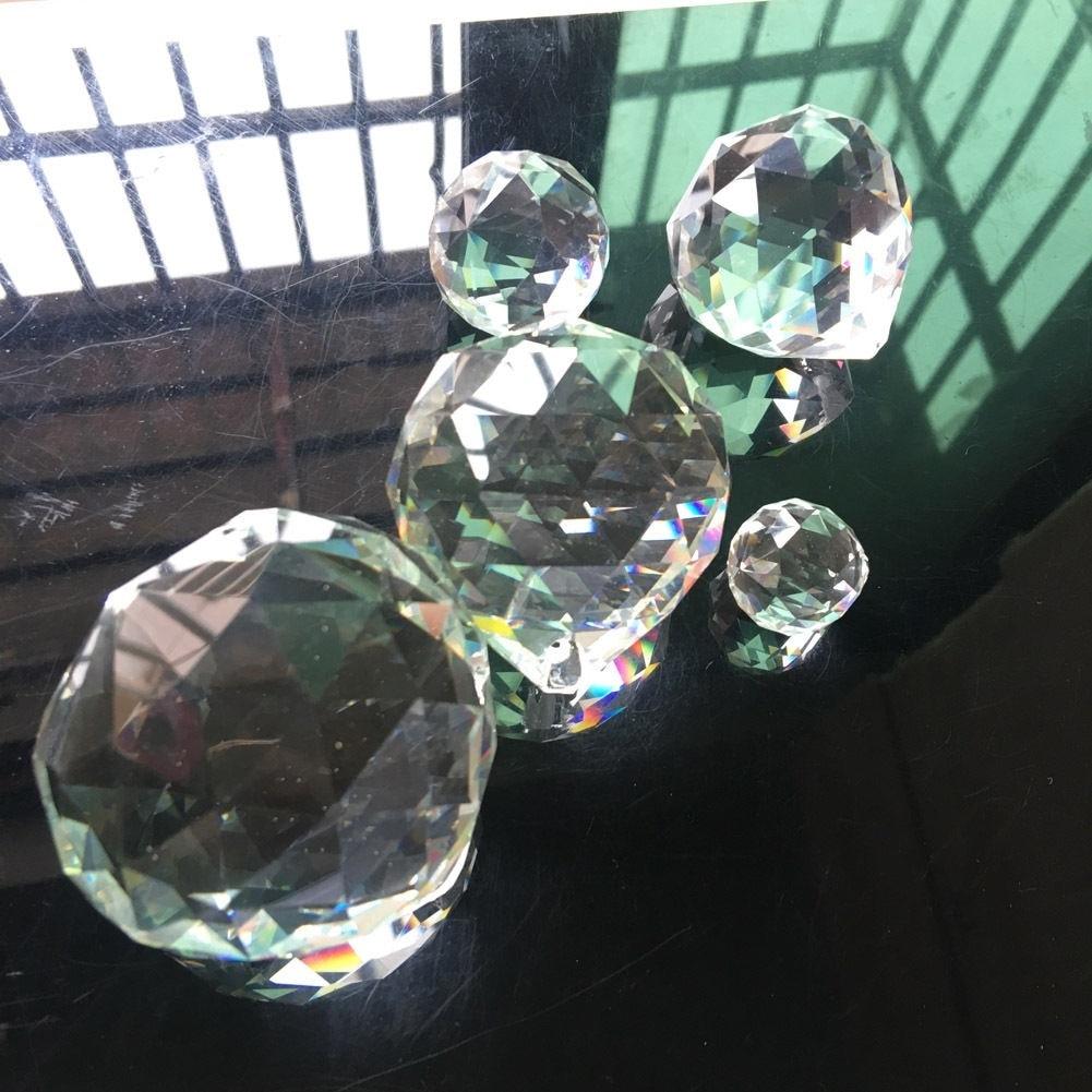 50 мм фэн-шуй Висячие хрустальные шары Сфера Призма Радуга Suncatcher кулон DIY