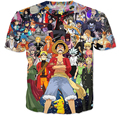 Newest Hipster 3D t shirt Anime t shirts Women Men Summer Casual t shirts Harajuku Cartoon One Piece Monkey D Luffy tshirts tees