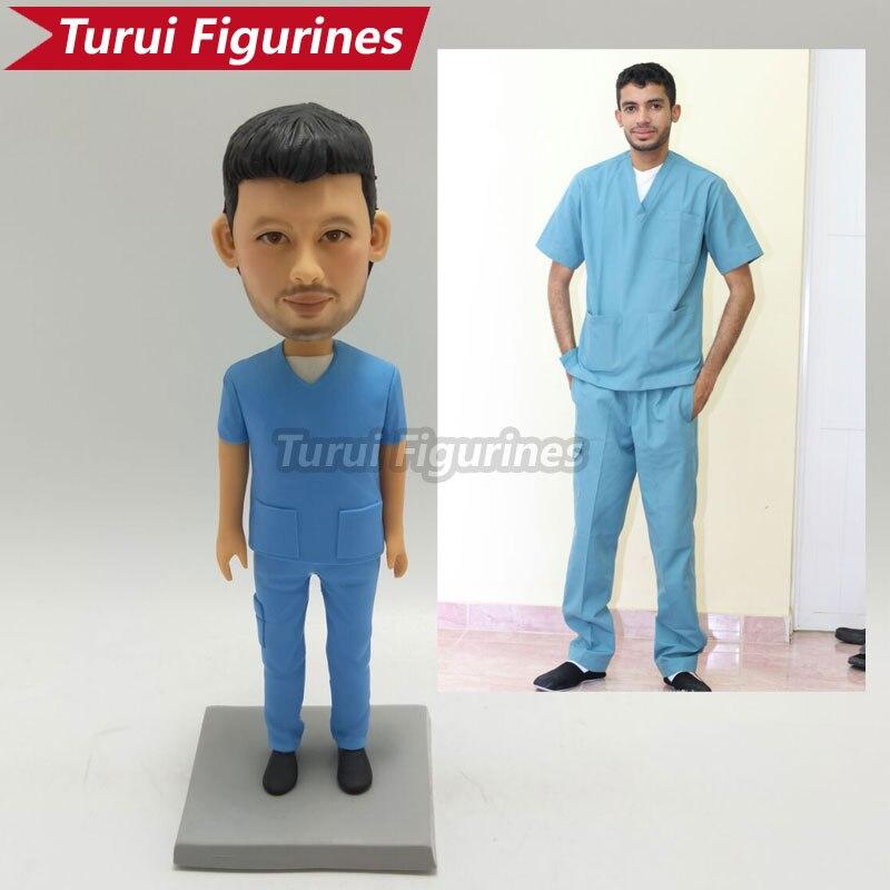 student boy school uniform miniature birthday polymer clay figurines cake topper home decor sculpture design by turui figurines
