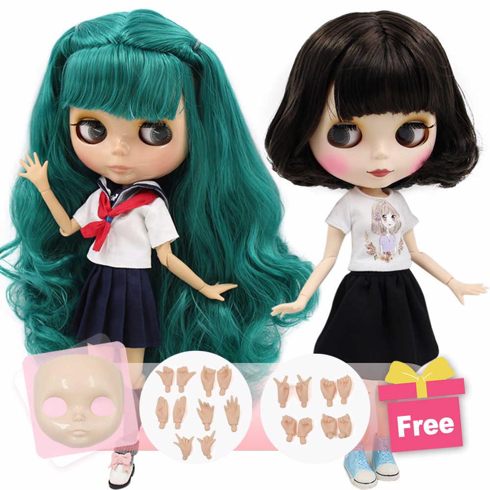 ICY boneca Blyth Nu Fábrica rosto extra & mãos livres como o presente Adequado Para vestir por si mesmo DIY Alterar BJD brinquedo preço especial