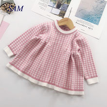 8f8348f6ec774 Children winter Dress for Girls baby underwear dress kids autumn knitted  Clothes thick Dresses teen high