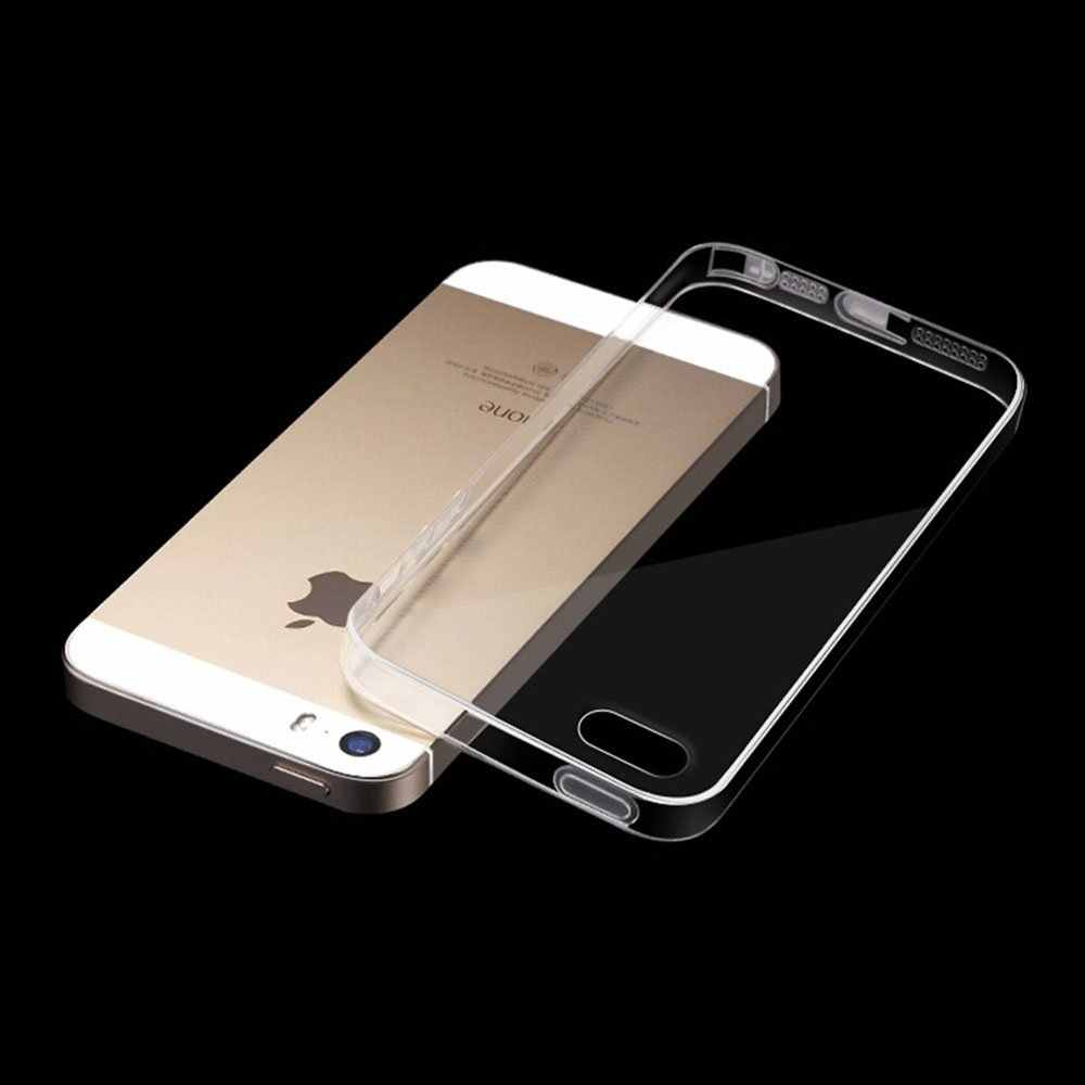 Para iPhone 11 Pro Max Ultra fina funda transparente funda de silicona para IPhone 8 5 5S se 6 6s 7 7 plus 8 Plus
