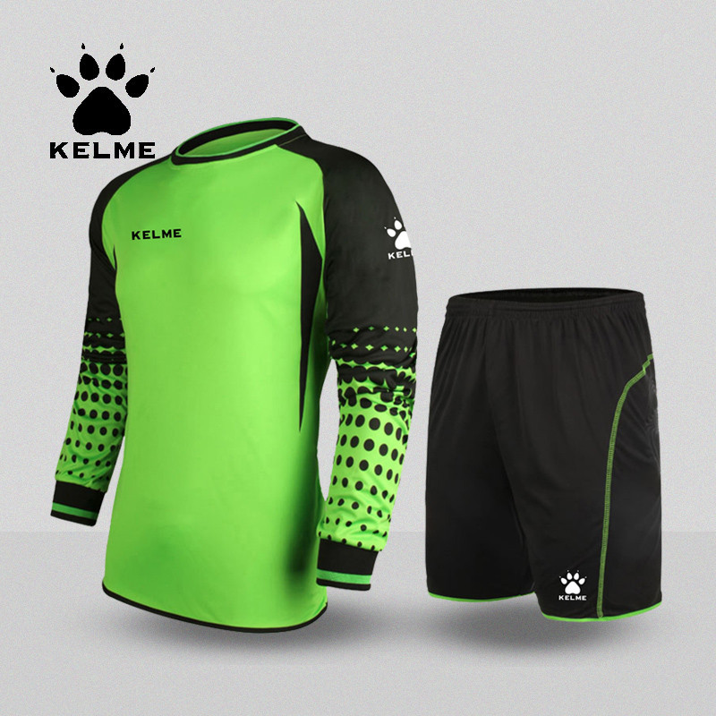 KELME Throwback Football Jerseys Equipacion Futbol Men Goalkeeper Uniform Ensemble Football Survetement 2016 Goalkeeper K15Z209 2015 camisetas de futbol survetement soccer jerseys