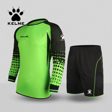 KELME Throwback Football Jerseys Equipacion Futbol Men Goalkeeper Uniform Ensemble Survetement 2016 K15Z209