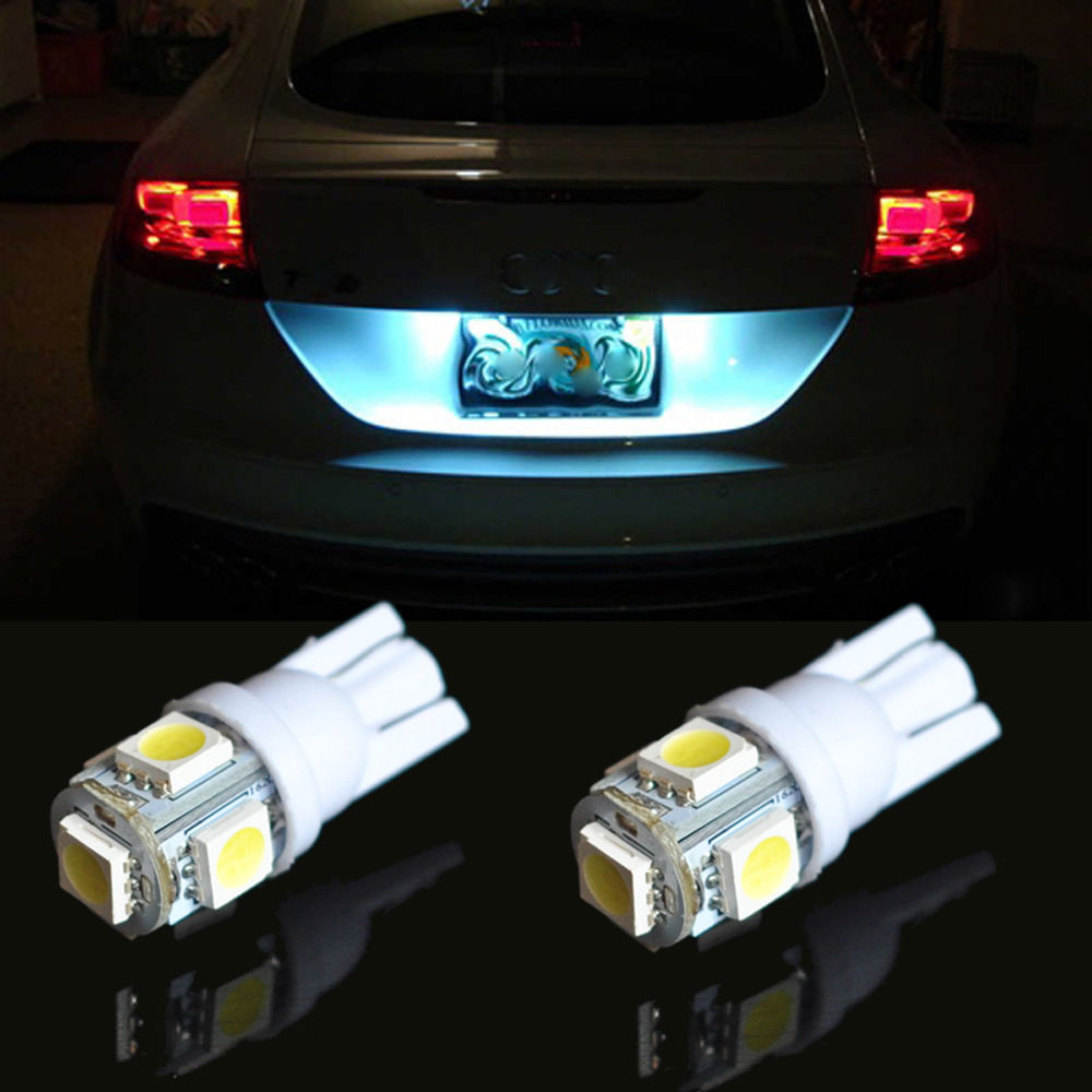 10 pcs W5W T10 LED Branco Side Wedge Tail Light 5 12 v Car Light Bulb 5050 Smd LEDs Universal auto Lâmpada 168 194 2825 w5w T10