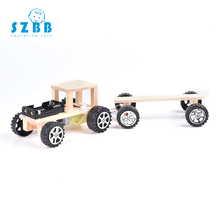 SZ STEAM Model Toy Diy Assembling wooden electric train Developing Intelligent STEM Toy Science Electric Toy Puzzle toy SZ3282 цена в Москве и Питере