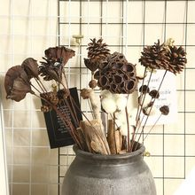 Natural Pine Cone Dried Flower Plant Stems Christmas Decoration Ornament Artificial Plants Xmas Holiday Decor Crafts