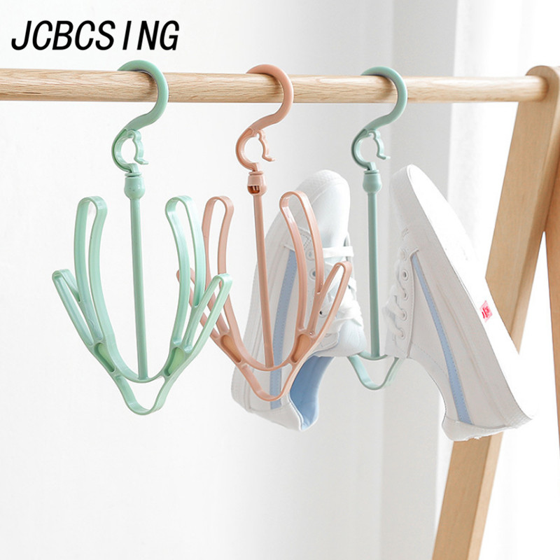 Temperate Jcbcsing 1pc Household Shoe Organizer Drying Rack Balcony Drying Shoes Stand Shelf Hanging Shoes Hanger Towel Clothes Storager Large Assortment Clothing & Wardrobe Storage