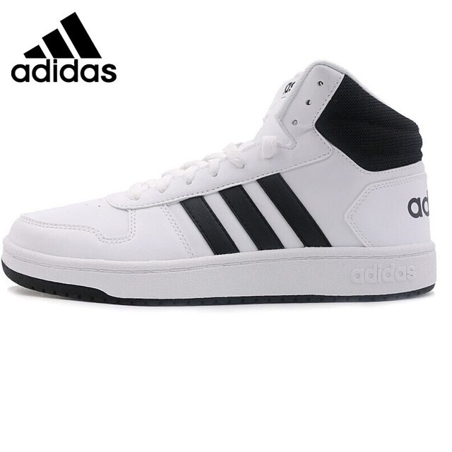 Original Adidas Neo Label HOOPS 2.0 MID Men s Skateboarding Shoes Sneakers  Outdoor Sports Athletic New Arrival 2018 BB7207 b919ed8dd