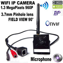 HI3518C Mini 960P Wireless mini wifi camera With microphone 1.3 MegaPixels 3.7mm Lens H.264 Onvif security camera CCTV Camera