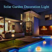 Lámpara Solar LED luces de bola flotante flotador a prueba de agua para estanques de jardín lámparas de césped Patio de paisaje Auto Sensor luz de noche