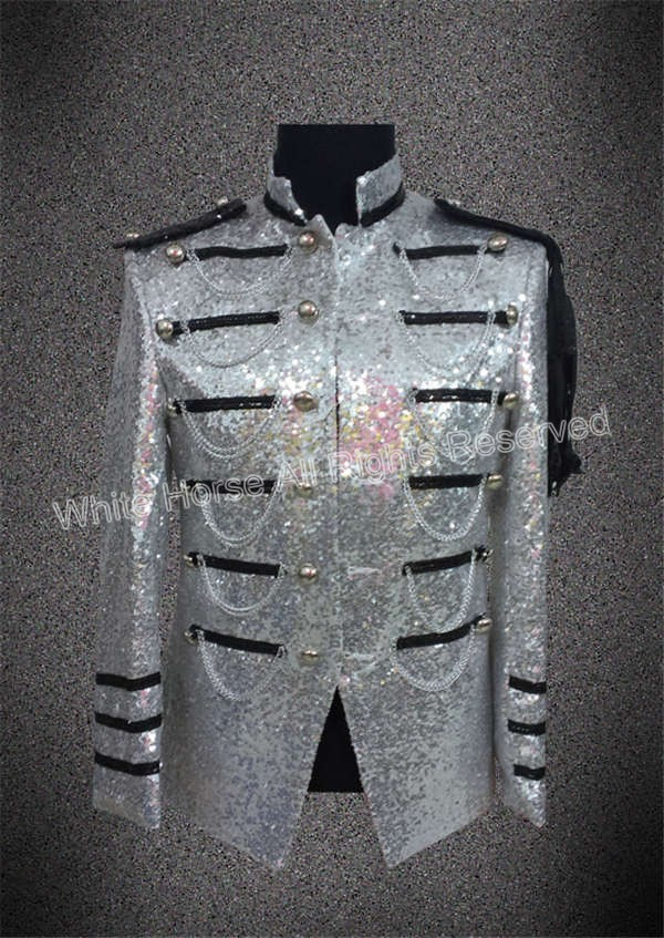 Sequin Jacket Men Tuxedo Jacket Costume For Men Singer Men's Suit Jackets Casual Suits Jacket Men's Costumes Hip Hop